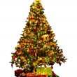 Isolated Christmas tree - Stock Photo
