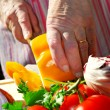 Cutting vegetables — Stock Photo #4824325