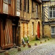 Medieval houses — Stock Photo