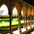 Mont Saint Michel Cloister - Stock Photo