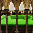 Stock Photo: Mont Saint Michel cloister garden