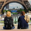 Tourists in France — Stok fotoğraf