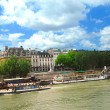 Stock Photo: Boats on Seine