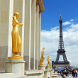 Eiffel tower from Trocadero — Stock Photo