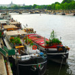 Houseboats in Paris — Stock fotografie