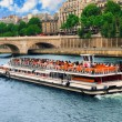 Boat tour on Seine - Stock Photo