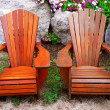 Stock Photo: Patio chairs