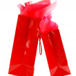 Red shopping bags — Stock Photo