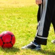Playing soccer - Foto Stock