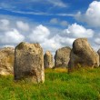 Megalithic monuments in Brittany - Stock Photo