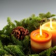Christmas candles — Stock Photo #4825189