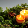 Christmas candles — Stock Photo #4825191
