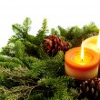Christmas candles — Stock Photo #4825195