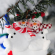 Snowmen Christmas ornament — Stock Photo