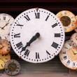Antique clocks — Stockfoto