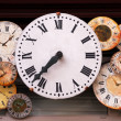 Antique clocks - Stock Photo