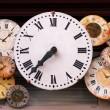 Antique clocks — Stock Photo