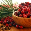 Cranberries in bowls - Stock Photo