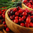 Cranberries in bowls — Stock Photo