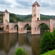 Valentre bridge in Cahors France — Stock Photo