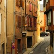 Medieval street in Albi France - Stock Photo