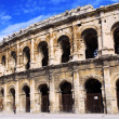 Roman arena in Nimes France - Stock Photo