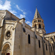 Gothic church in Nimes France — Stock Photo