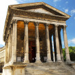 Roman temple in Nimes France - Stock Photo