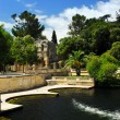 Jardin de la Fontaine in Nimes France - Stock Photo