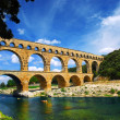 Pont du Gard in southern France — Stock Photo