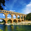Stock Photo: Pont du Gard in southern France
