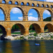 Pont du Gard in southern France - Foto Stock