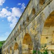 Pont du Gard in southern France - Stock Photo