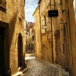 Narrow street in Perigueux - Stock Photo