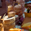 Cheeses on the market — 图库照片
