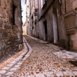 Medieval street in France - Stock Photo