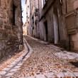 Medieval street in France — Stock Photo