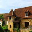 Medieval house in Sarlat, France - Stock Photo