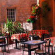 Restaurant patio — Stock Photo