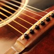 Guitar bridge - Stock Photo