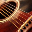 Old guitar close up - Stock Photo