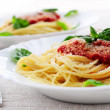 Pasta and tomato sauce — Stock Photo #4825688
