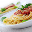 Pasta and tomato sauce — Stock Photo #4825689