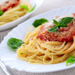 Pasta and tomato sauce — Stock Photo #4825691