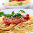 Pasta and tomato sauce — Stock Photo #4825692