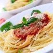 Pasta and tomato sauce — Stock Photo #4825694