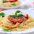 Pasta and tomato sauce — Stock Photo #4825695