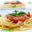 Pasta and tomato sauce - Stock Photo