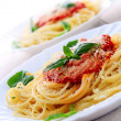 Pasta and tomato sauce — Stock Photo #4825700