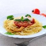 Plate of pasta — Stock Photo